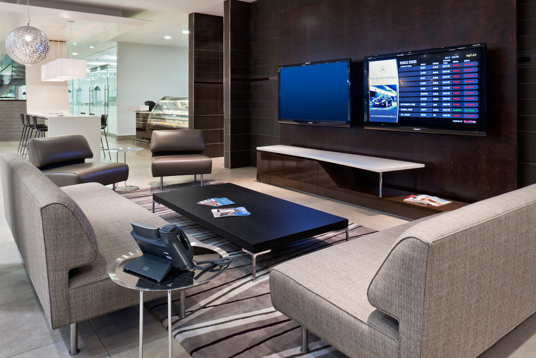 Lounge at Mercedes-Benz Burlington