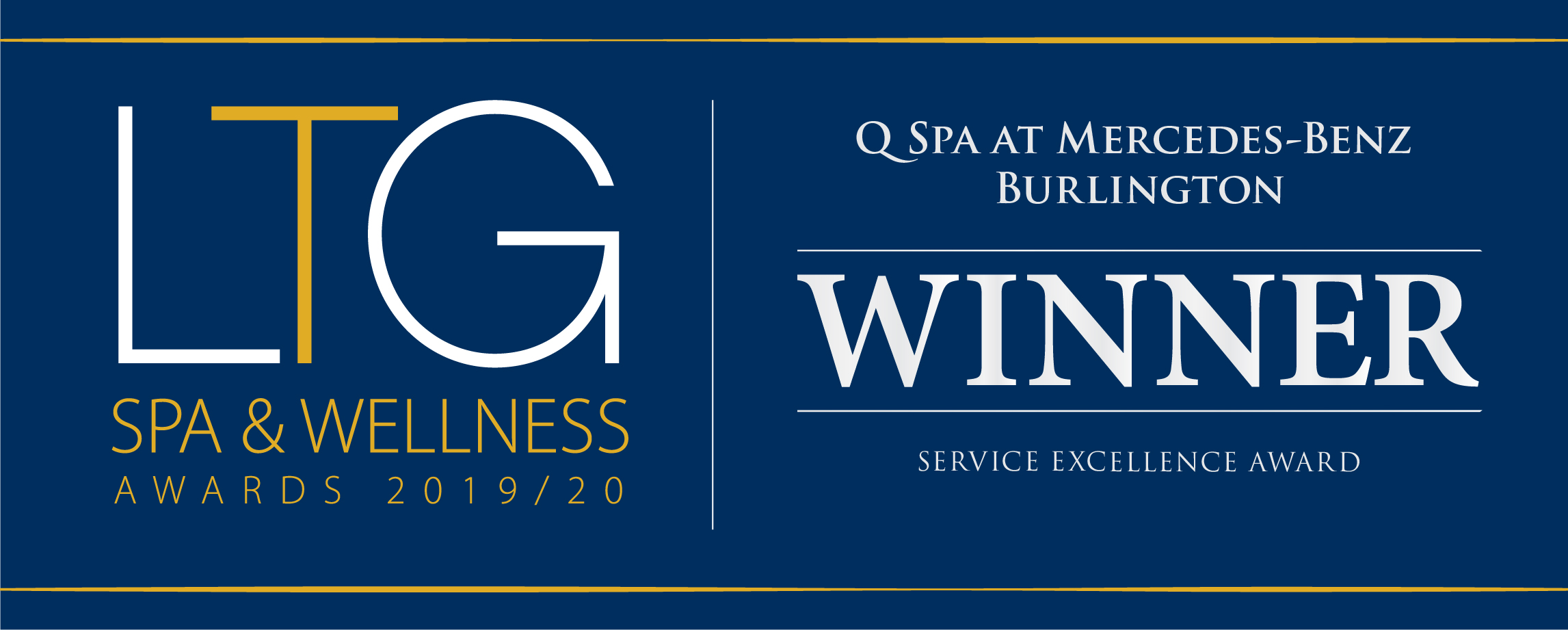Q spa Service Excellence Award Winner